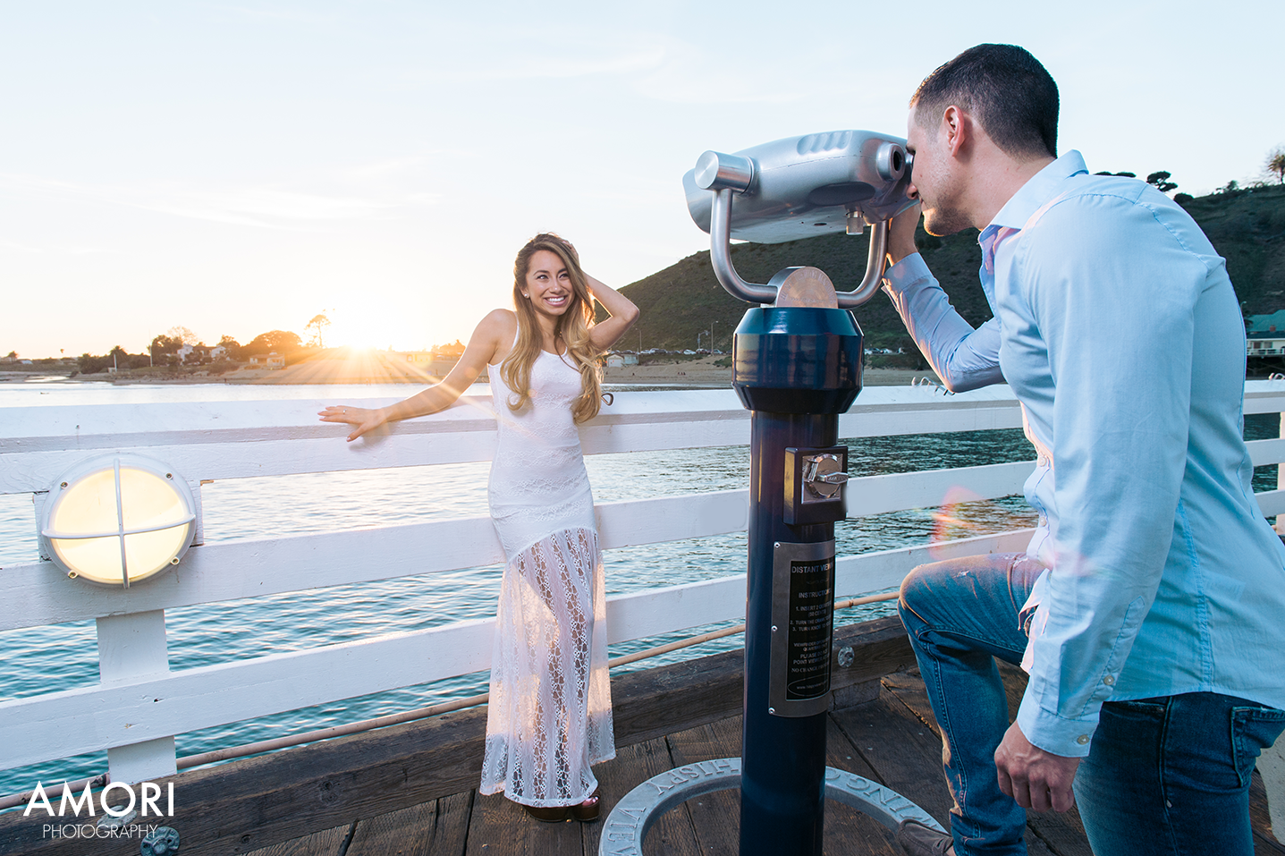 Engagement Malibu Pier Photos