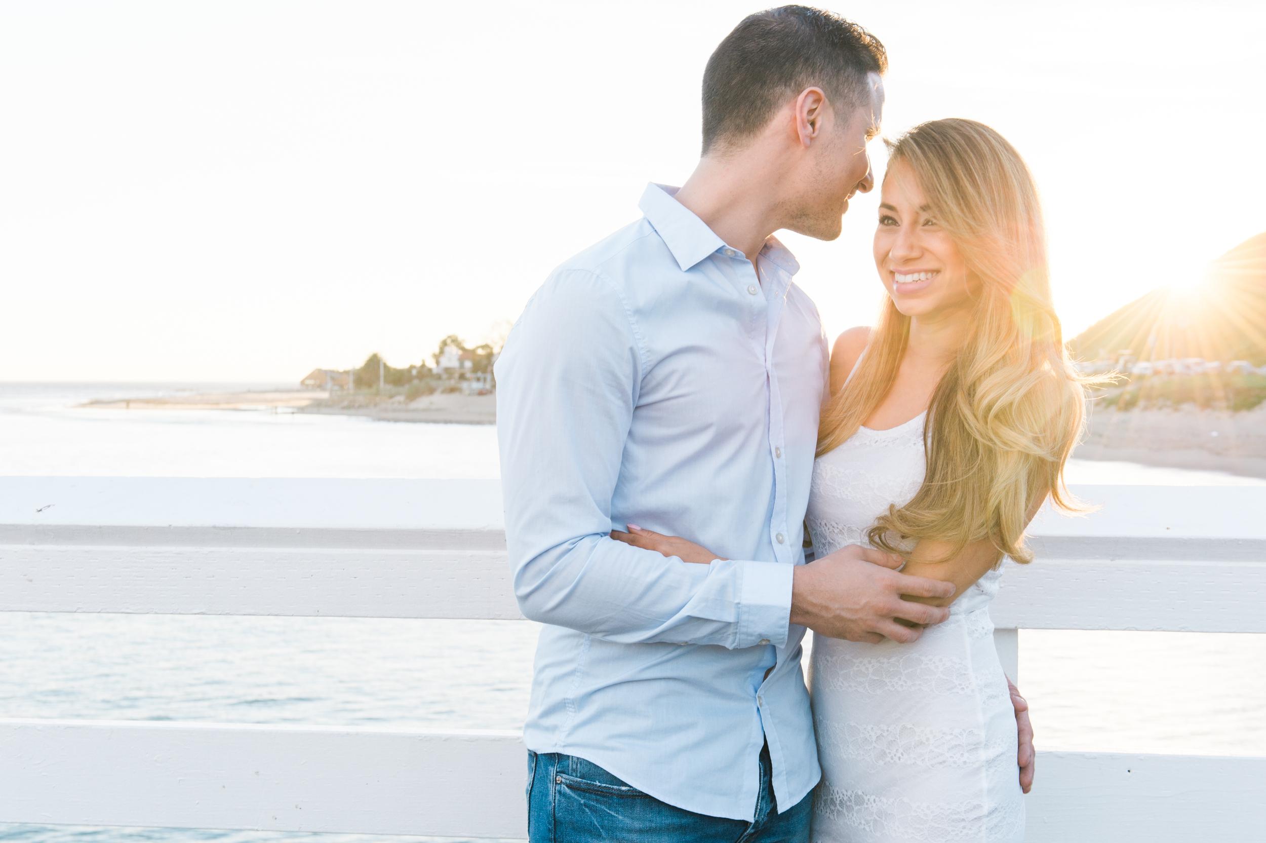 Engagement Photos at the Malibu Pier