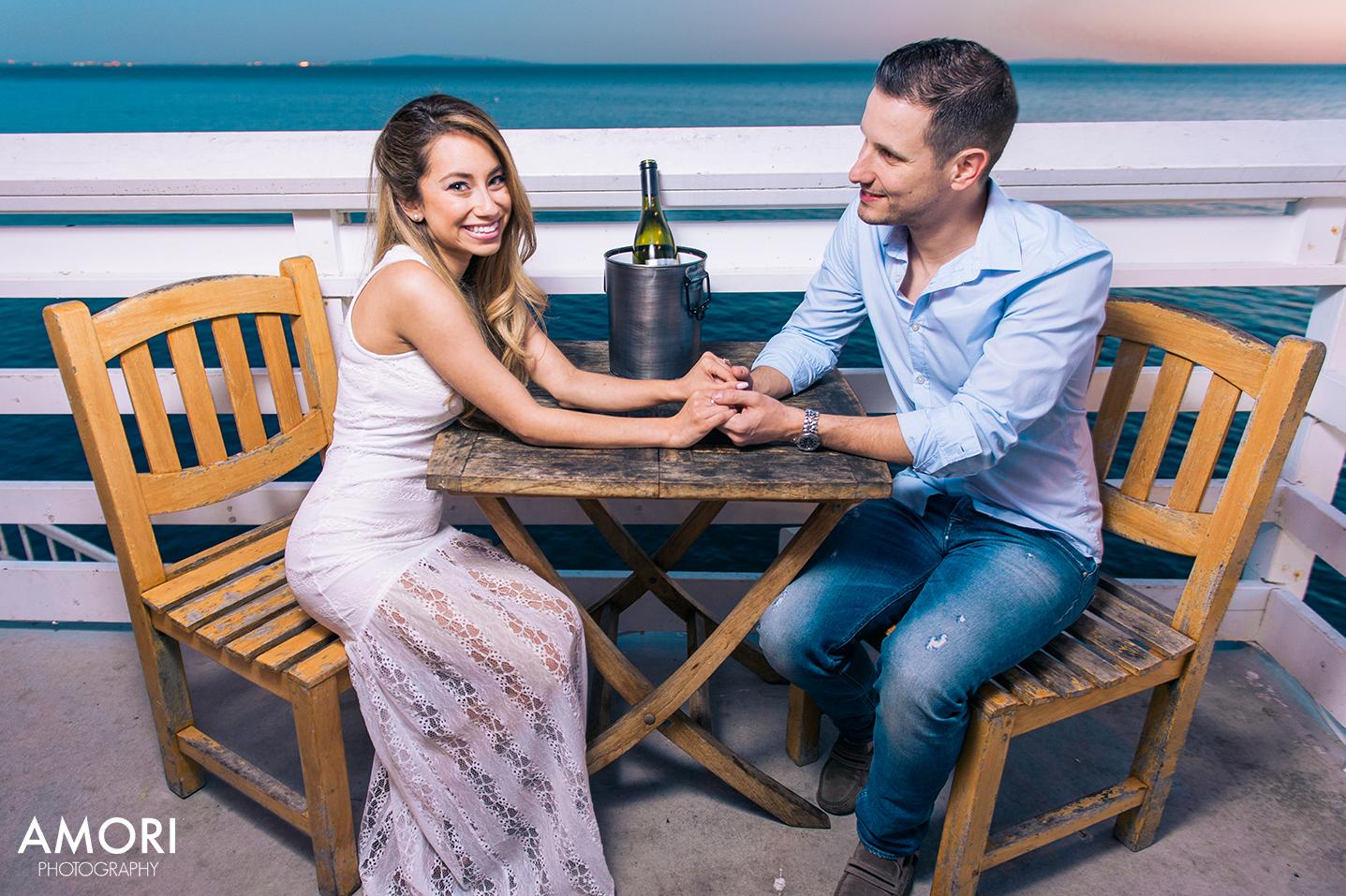 Malibu Pier Engagement Photographer