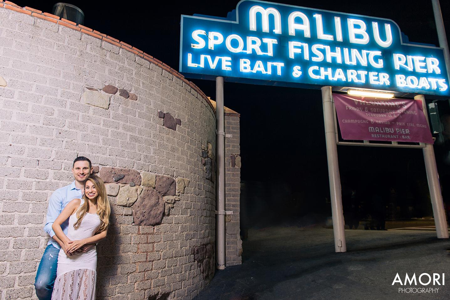 Famous Malibu Pier Engagement Photos