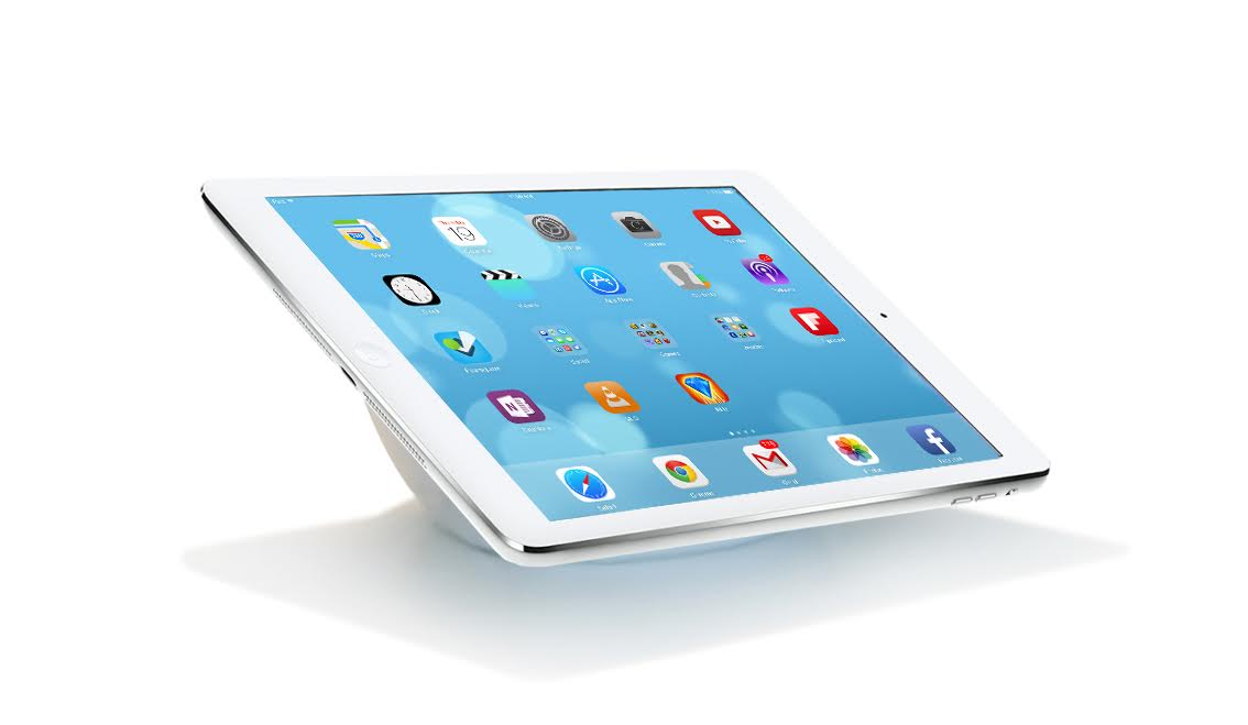 White Leather BOOY Tablet Lounge