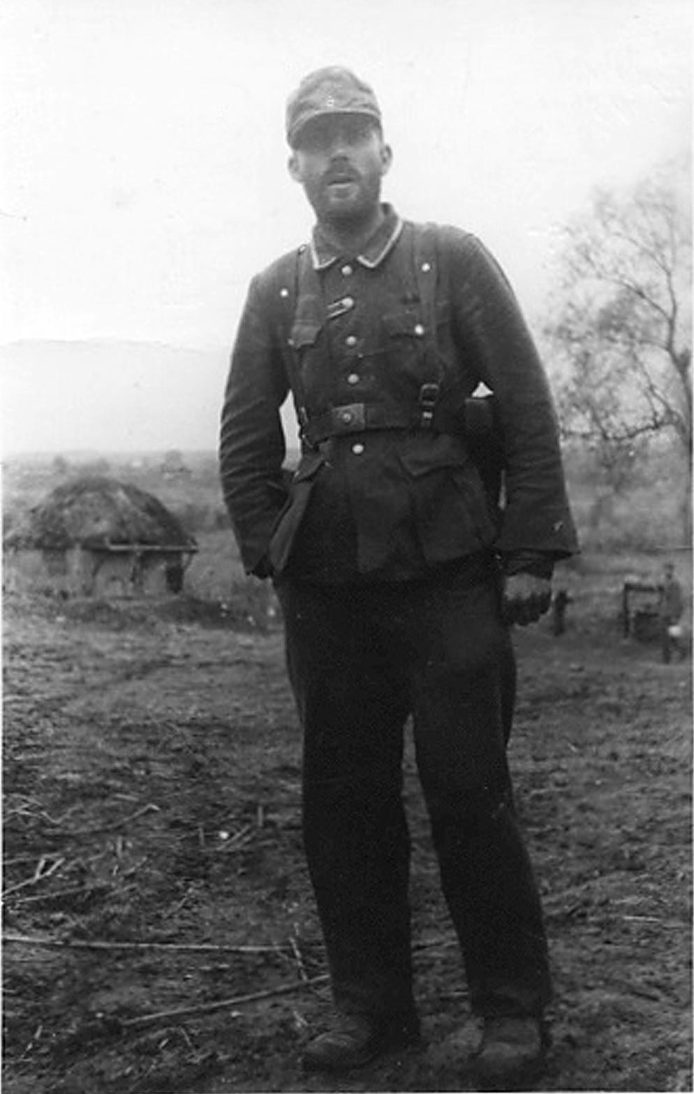 Ukraine, October 1942 - the last surviving Platoon Leader of the battalion.