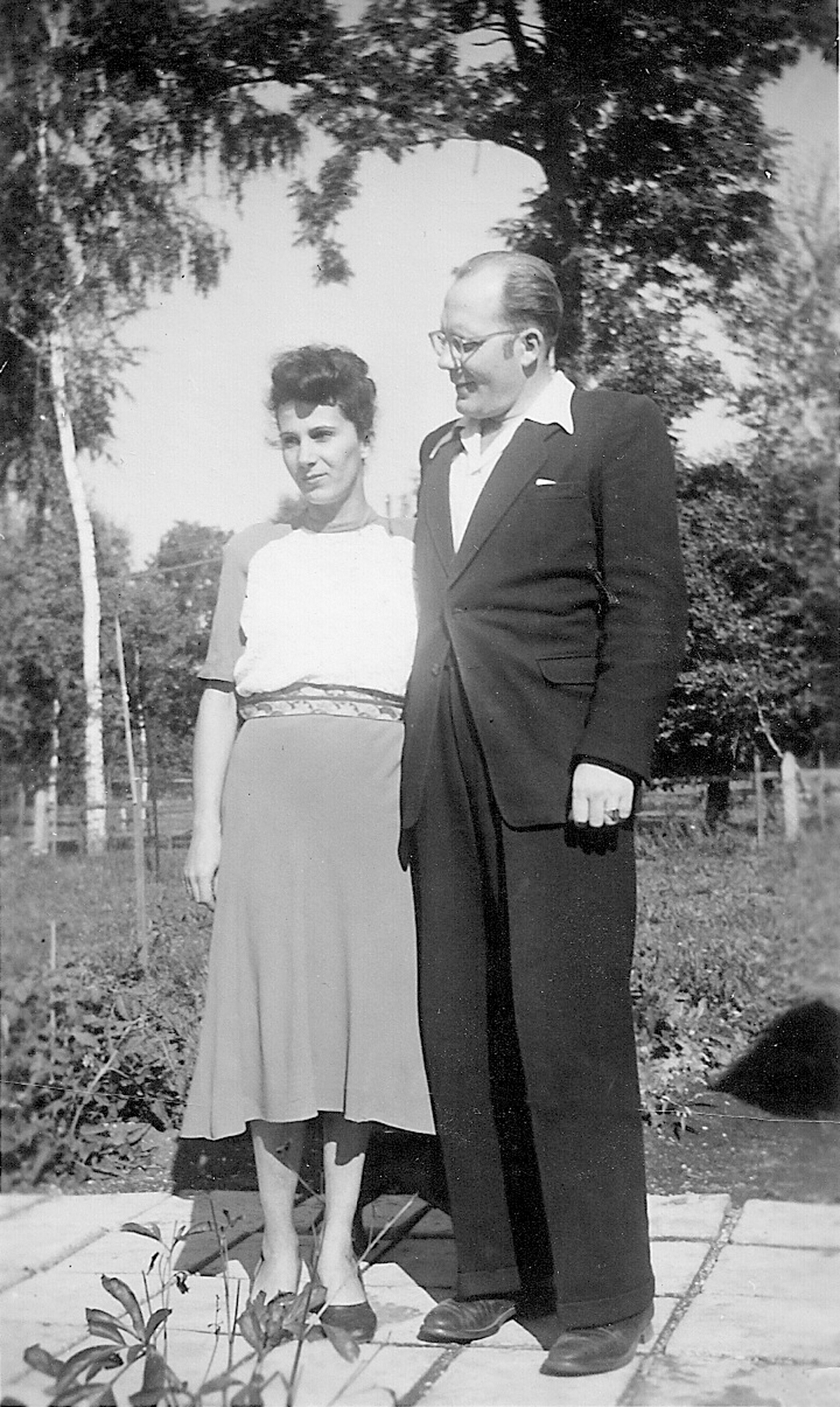 Peter and Johanna shortly after immigrating to America, 1953.