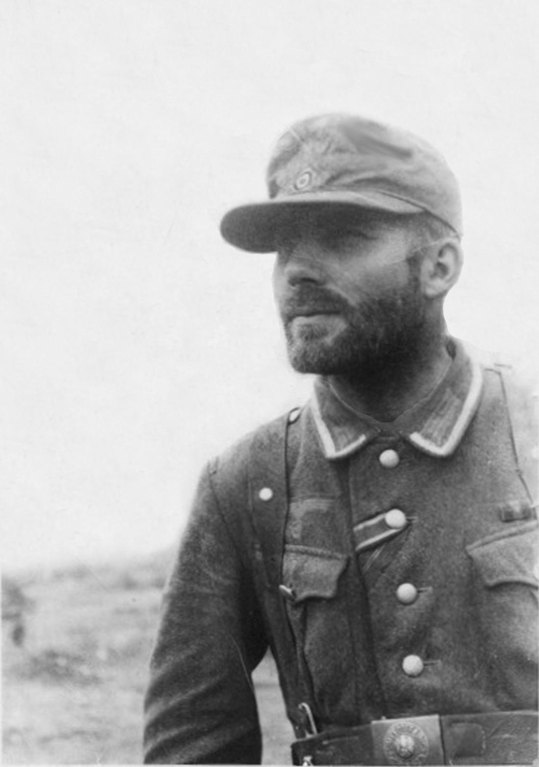 In combat near Kharkov, June 1943.