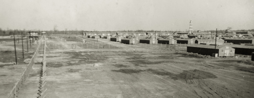 A panoramic image of Camp Aliceville in Alabama, circa 1943.