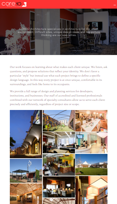 The new CORE10 Residential website...
