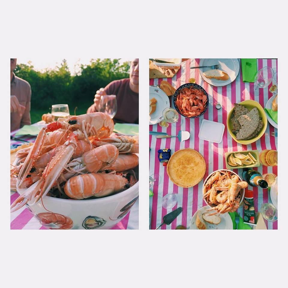 Summer time. Dinner.