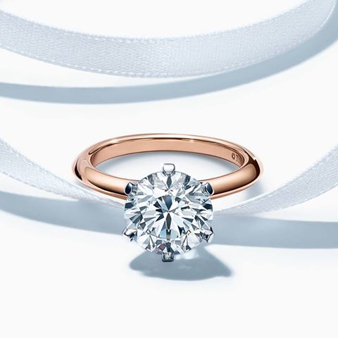 Tiffany diamond engagement ring – credit Tiffany & Co