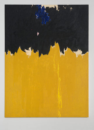 Left- Clyfford Still, PH-950, 1950 oil on canvas