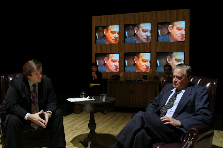 interview with nixons face on screen.JPG