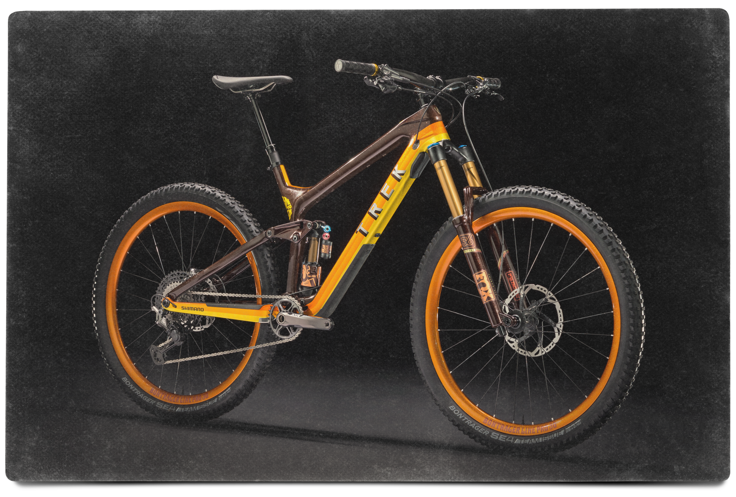 Behold the Return to Earth bicycle. Custom carbon Trek Slash with Shimano XTR drivetrain and brakes