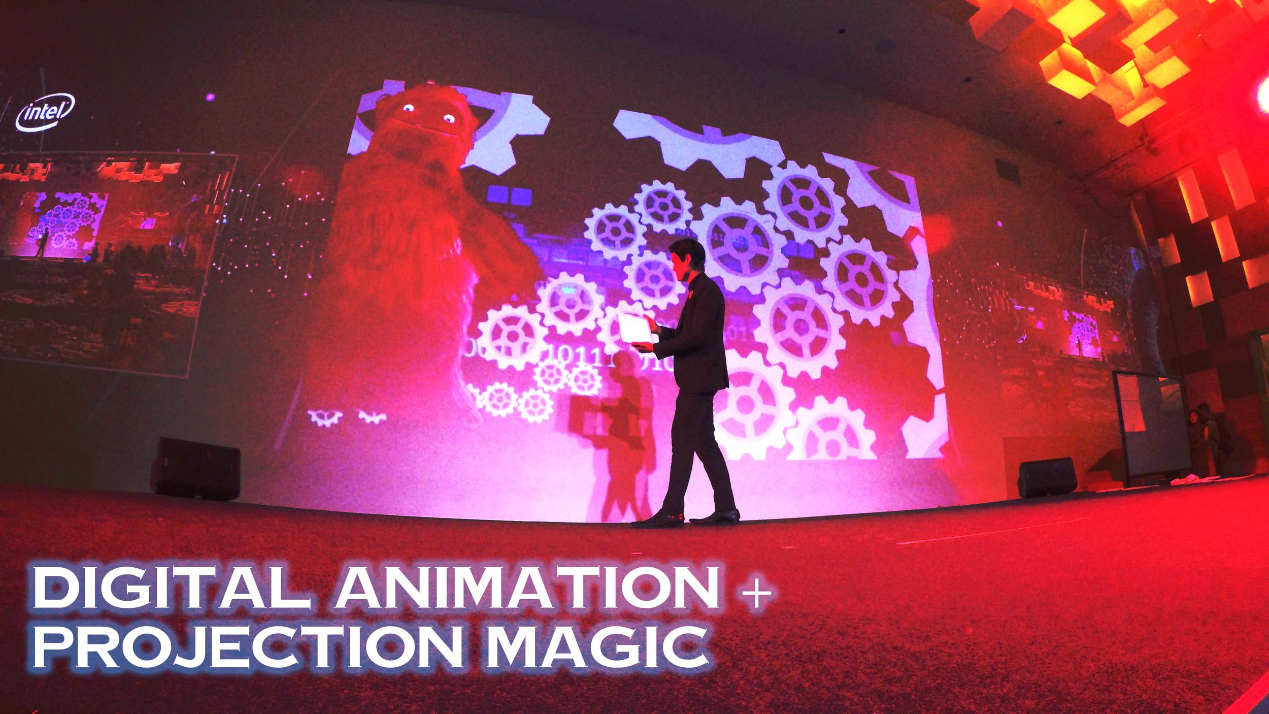 led wall magic show HPE