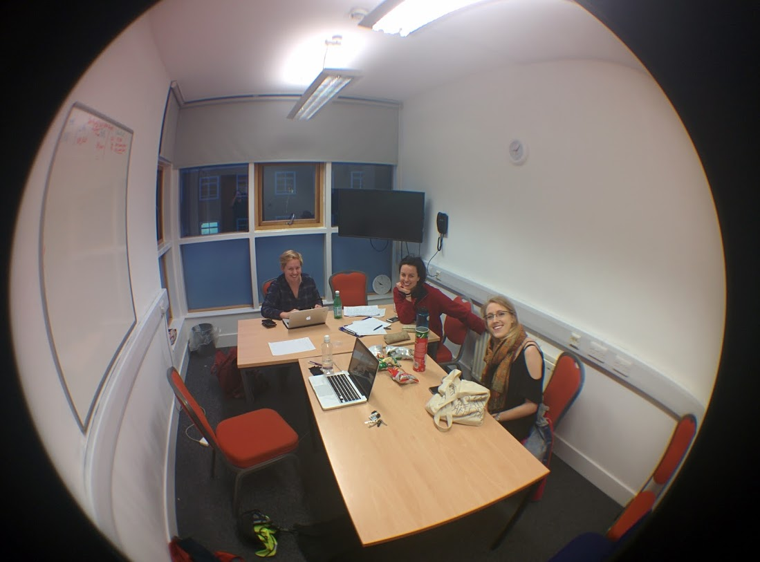 Charlotte, Hannah and Izzy at one of our Team Meetings