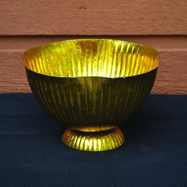 Gold Metallic Bowl