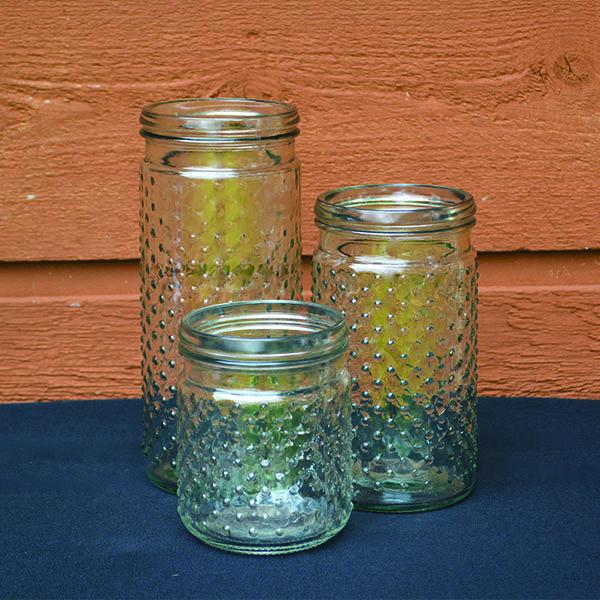 Glass Hobnail Vases