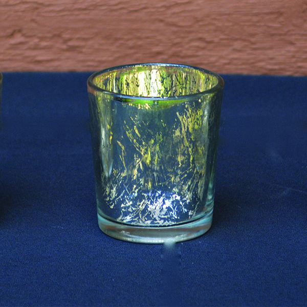 Mercury Glass Silver Votive