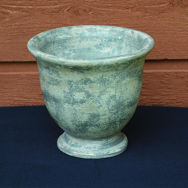 Ceramic Grey Round Urn