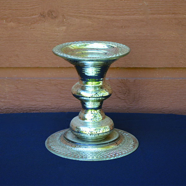 Metallic Silver Short Pedestal