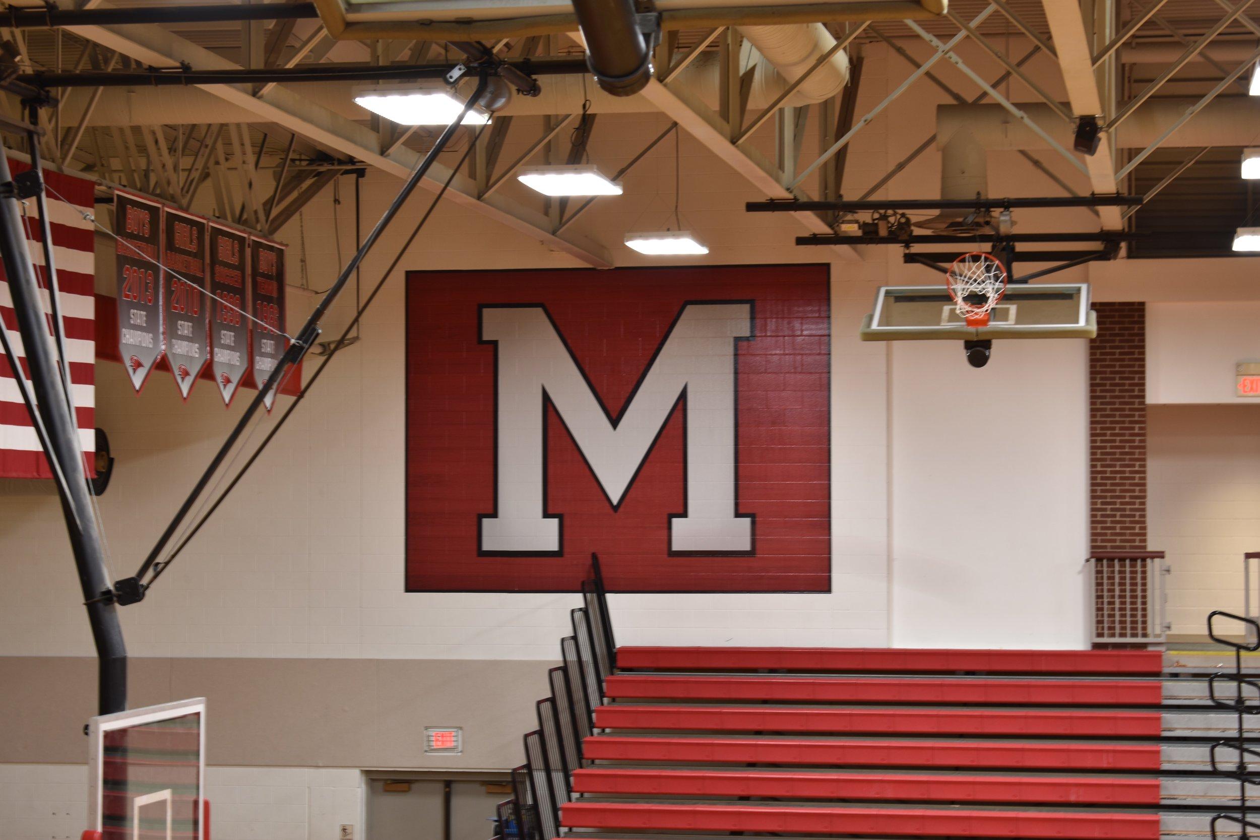 High school gym wrap