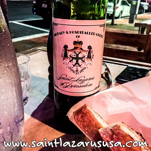 TRY OUR WINE - Help the charitable programs of the Grand Priory of the USA by enjoying the official wine of the Military and Hospitaller Order of Saint Lazarus of Jerusalem.