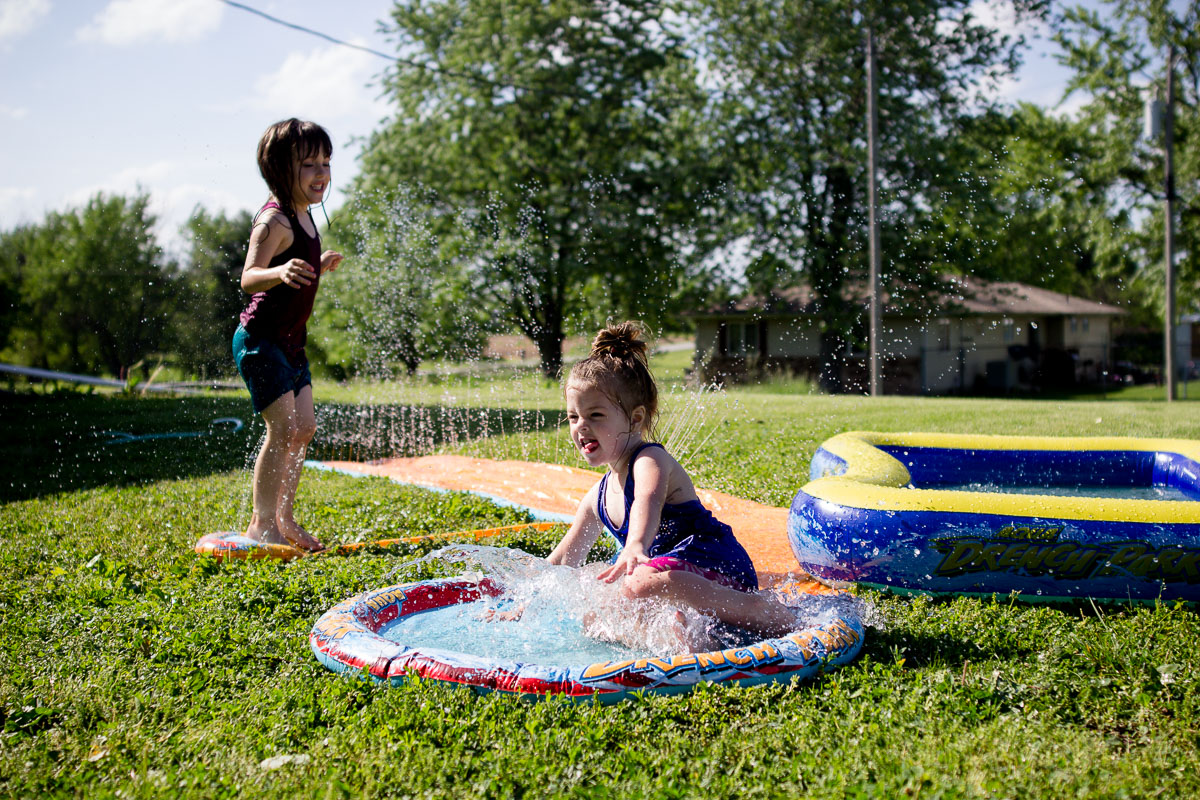 having water fun in the summer -
