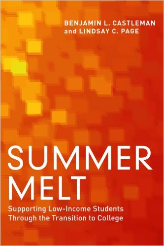 Get this book. It's a must-read for college admissions and marketing folks who want to understand why students melt.