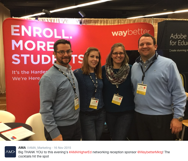 A few of the Waybetter crew at AMA 2015.