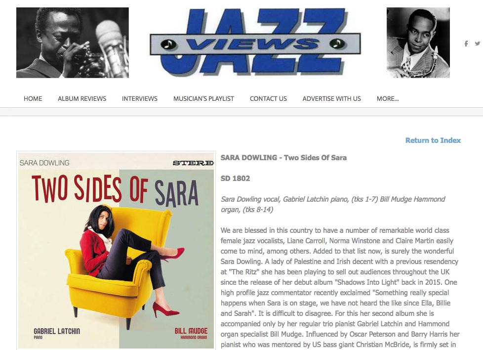 Two Sides Of Sara - Jazz Views