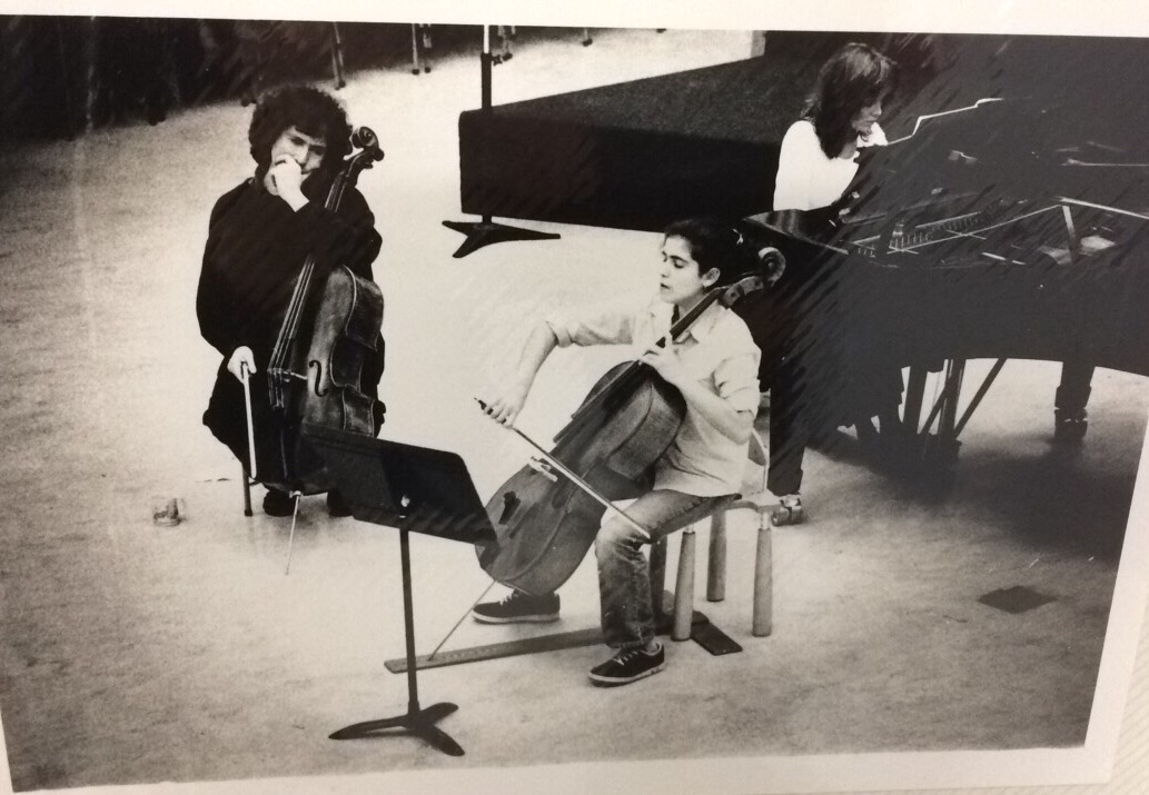 Age 15 playing Brahms E minor Sonata to Stevern Isserlis