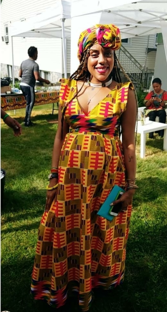 Actress Dominique Andriese in Jacques Louis - Baby Shower ready