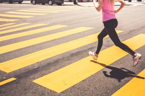 Source:https://picjumbo.com/blonde-woman-running-over-the-pedestrian-crossing/