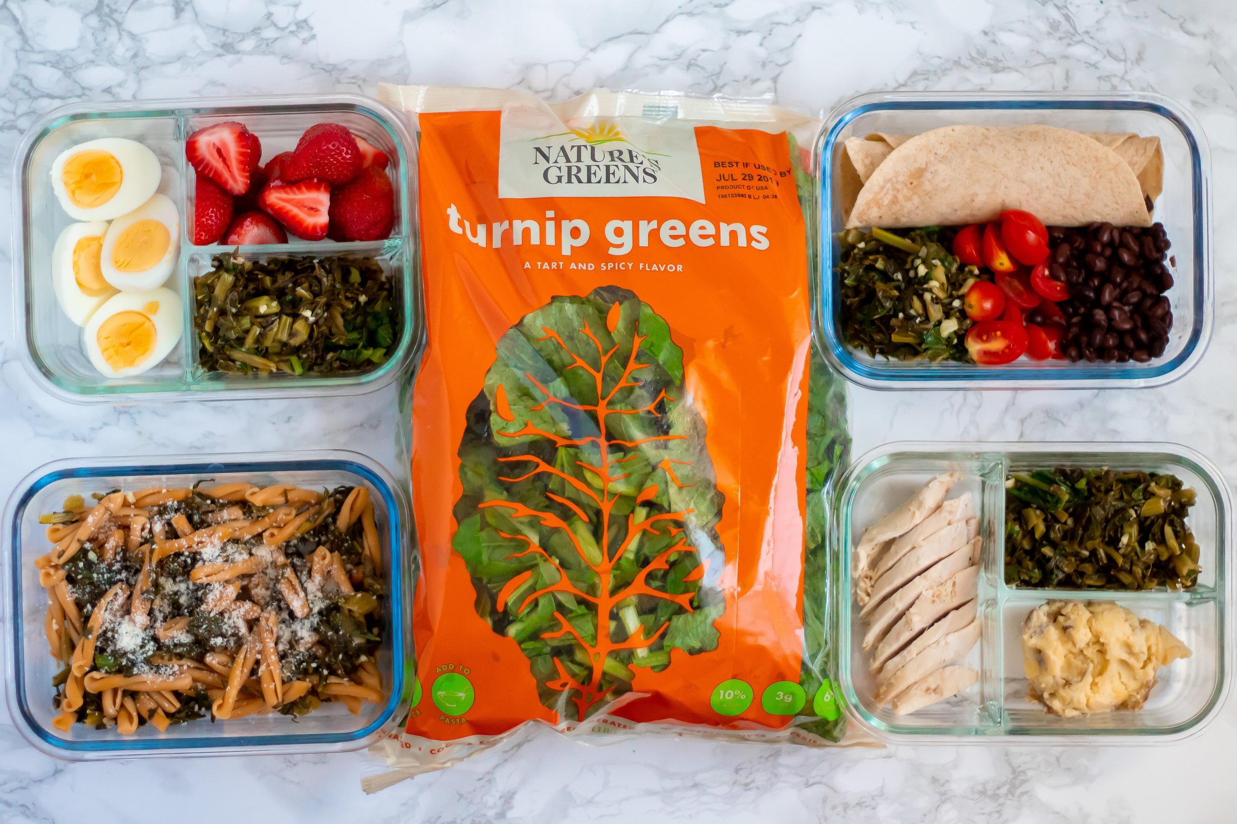 Nature's Greens turnip greens meal prep horizontal.jpg