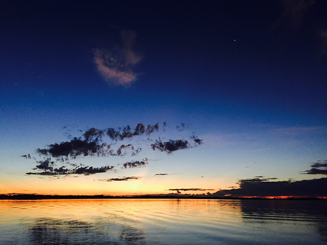 Sunset in the Pantanal, Brazil