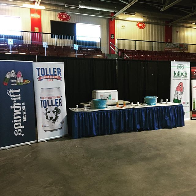 All set up for the Killick Coast Country Fair at Jack Byrne Arena in St. John's. Drop by this weekend to try our beers!
