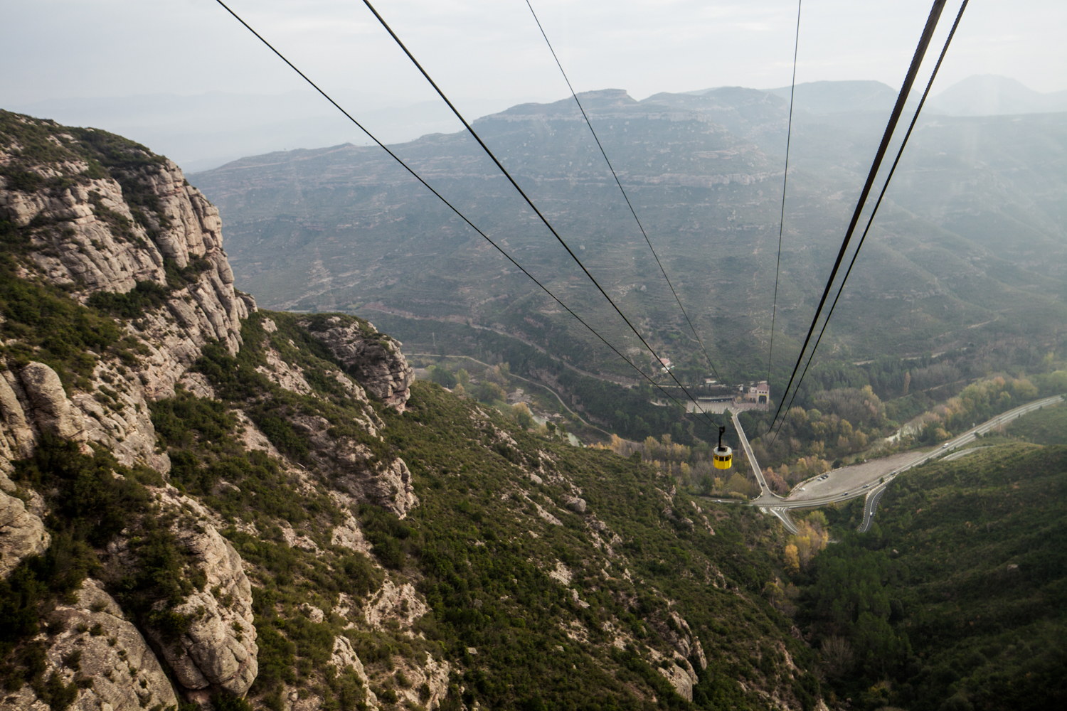 The terrifying cable car ride up to the Montserrat Abbey