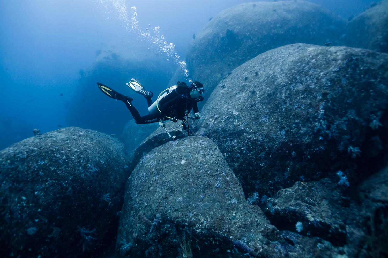 Granite rocks in the Similans.