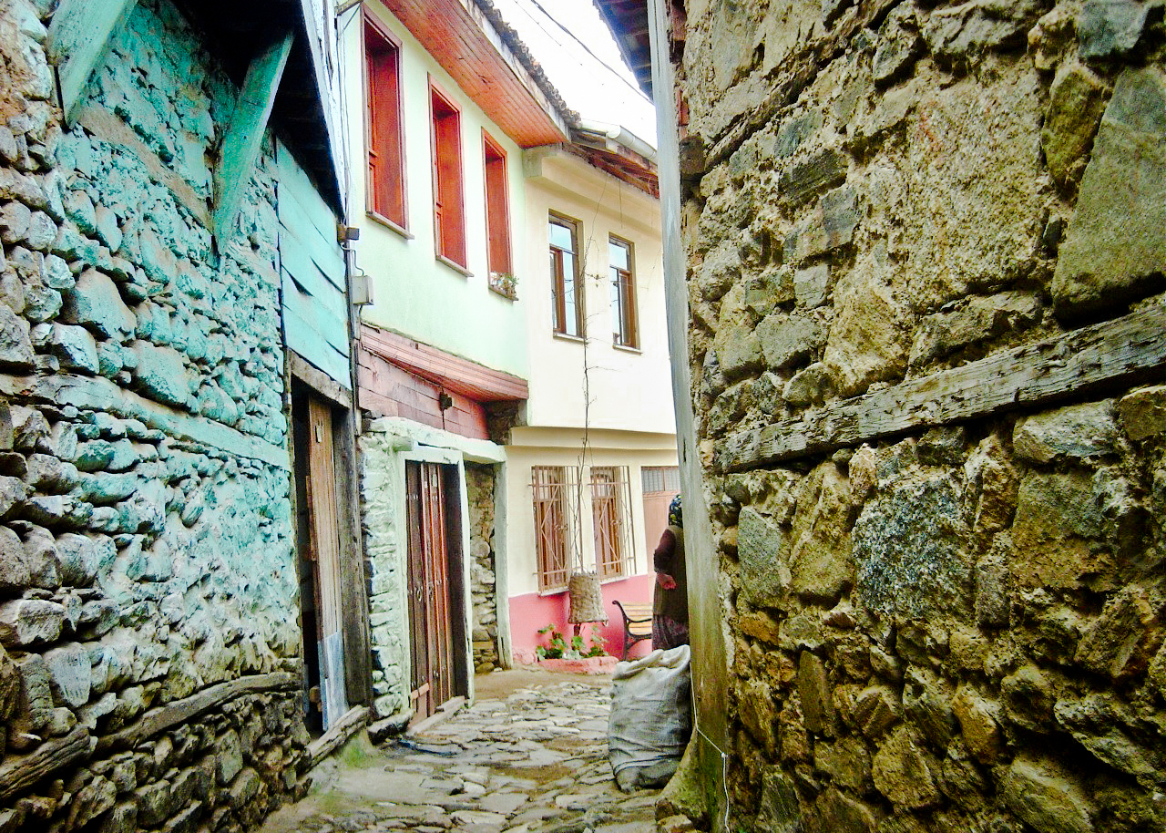 Also from Turkey, probably early 2007 in Cumalikizik near Bursa. It's a colorful village with some fantastic home-cooking restaurants.