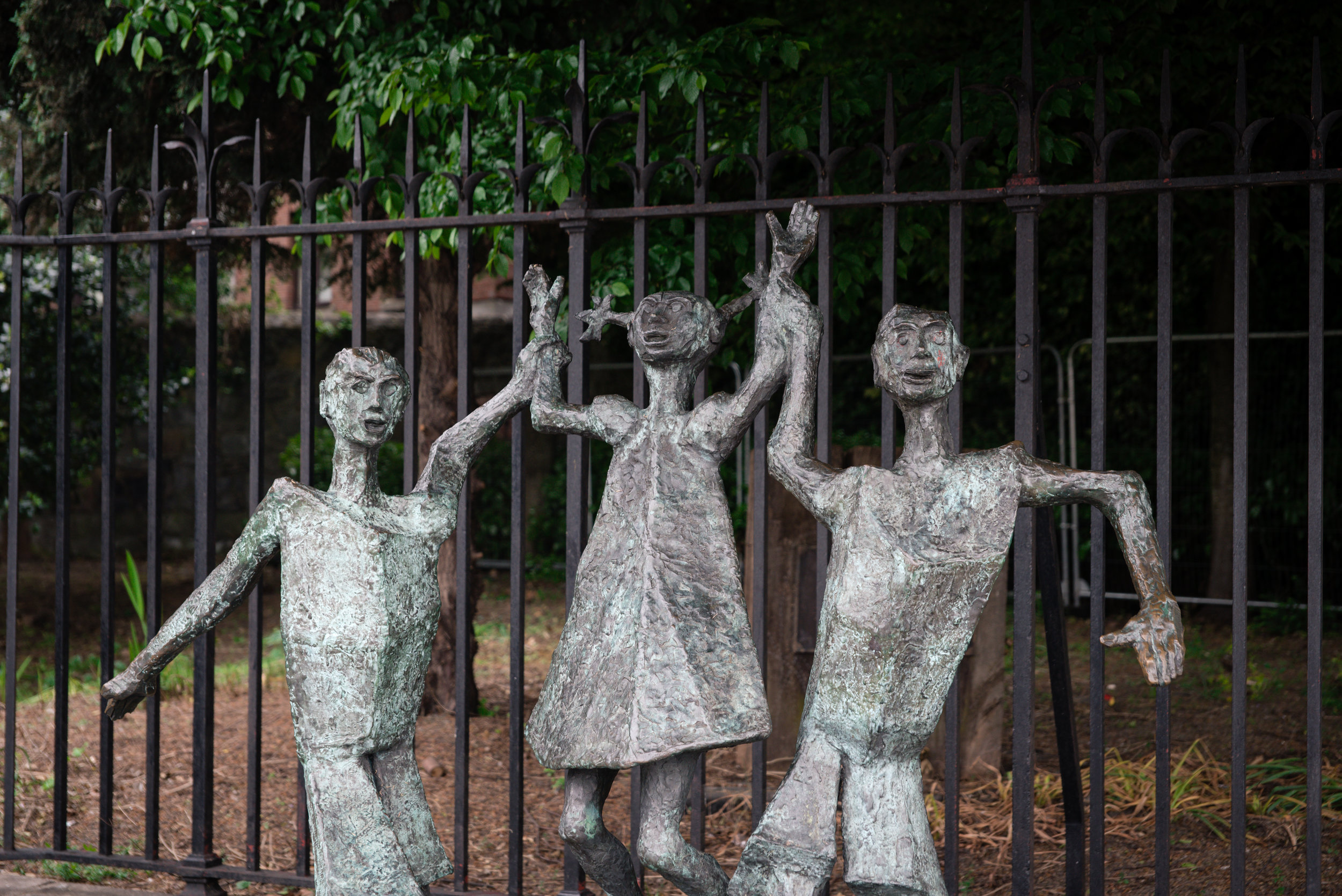 A statue dedicated to children born after/of the Millennium.