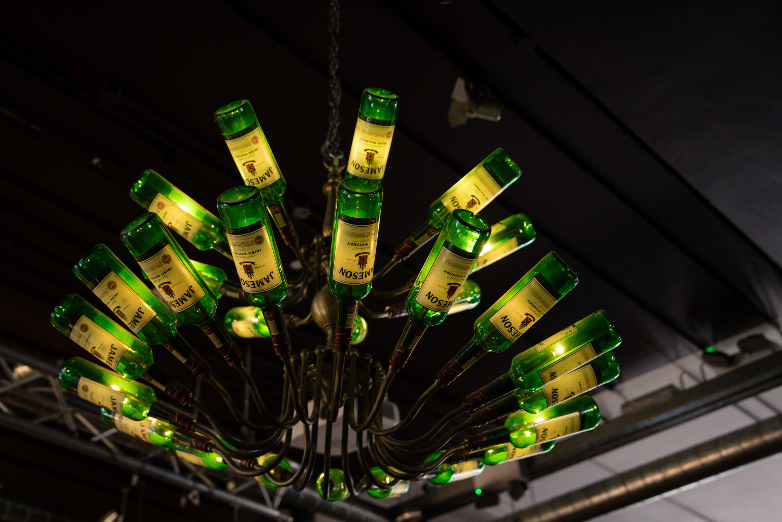 The Hostel features a Jameson chandelier. How cool is that!