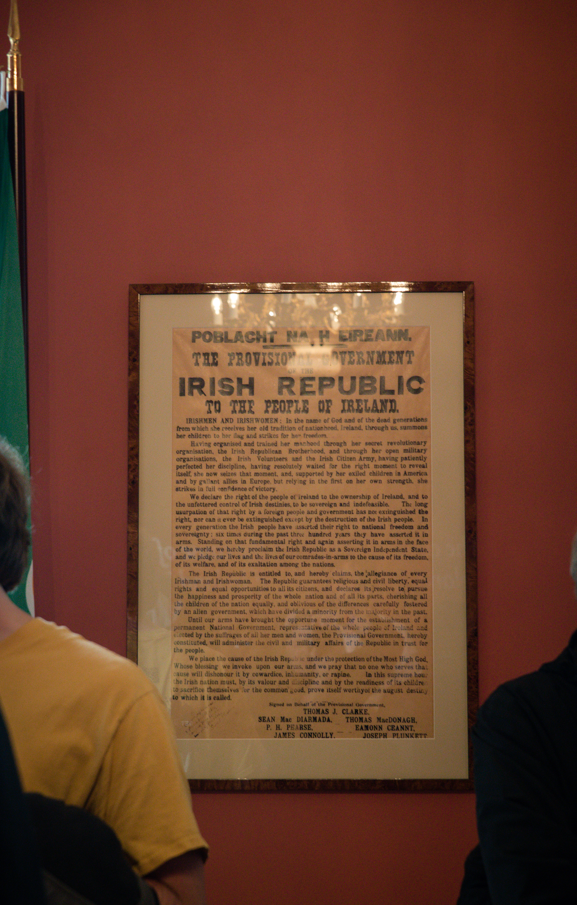 This was a picture I took in Dublin Castle of the Proclamation.
