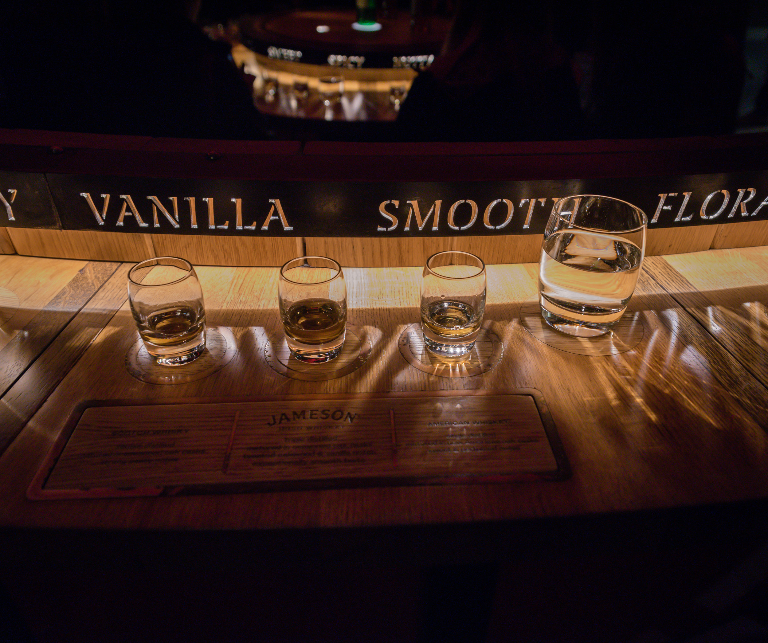 The whiskey taste testing!