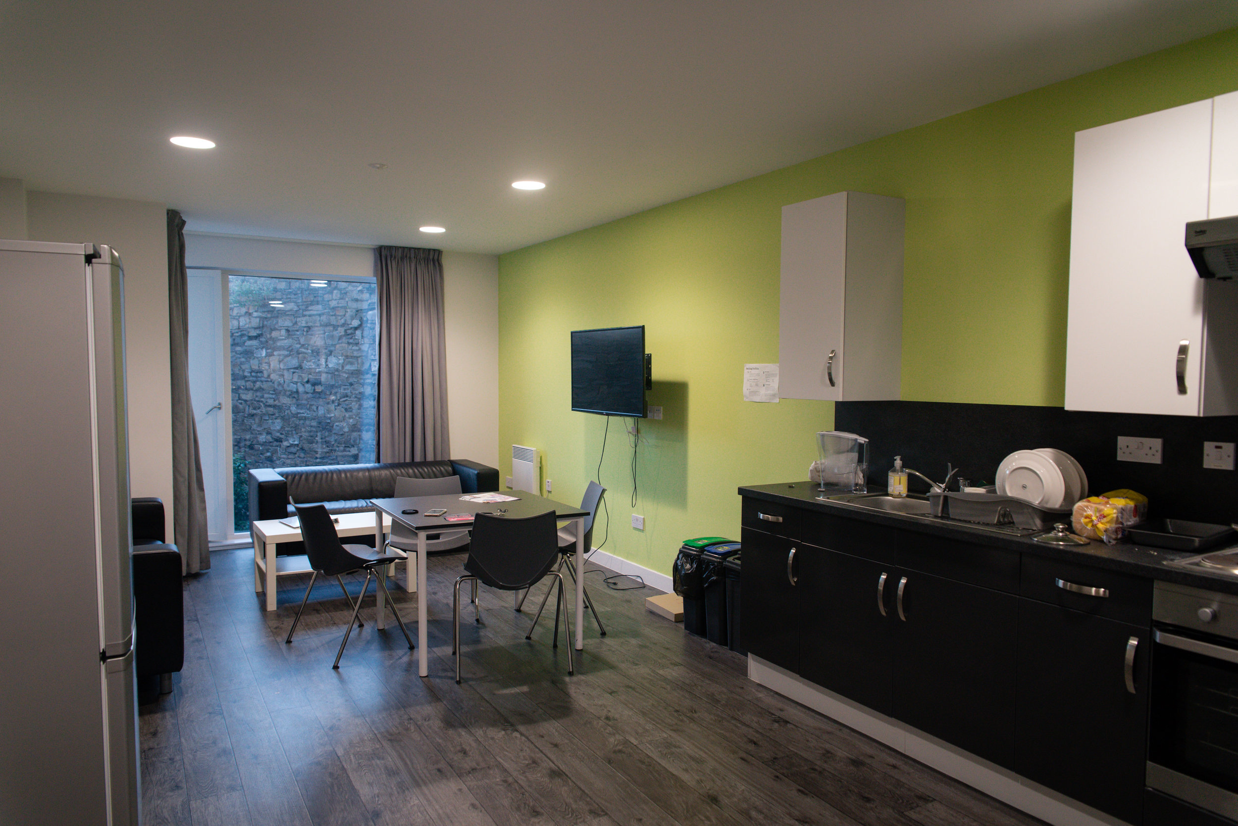 Common area including a kitchen!