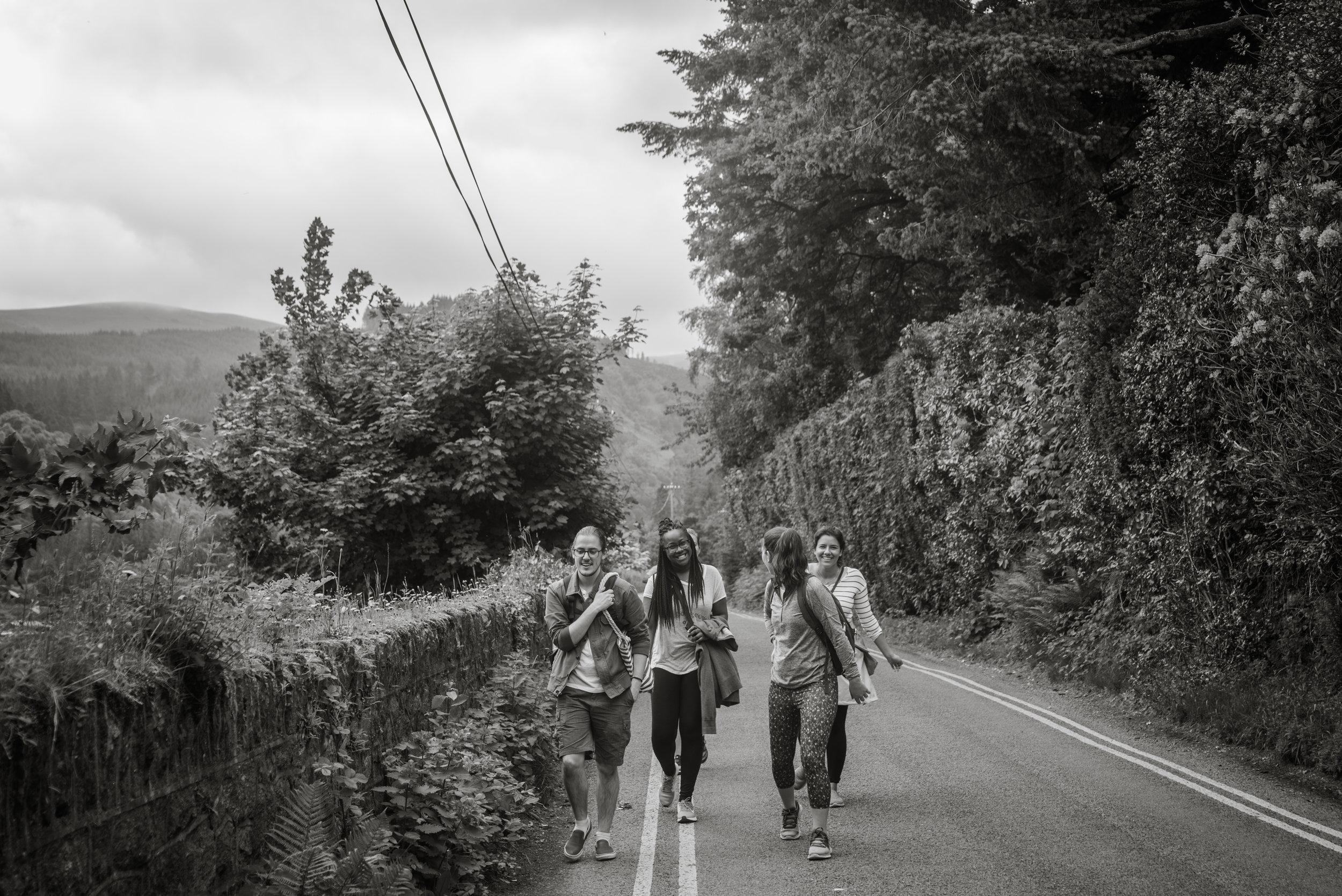 We had fun walking back.