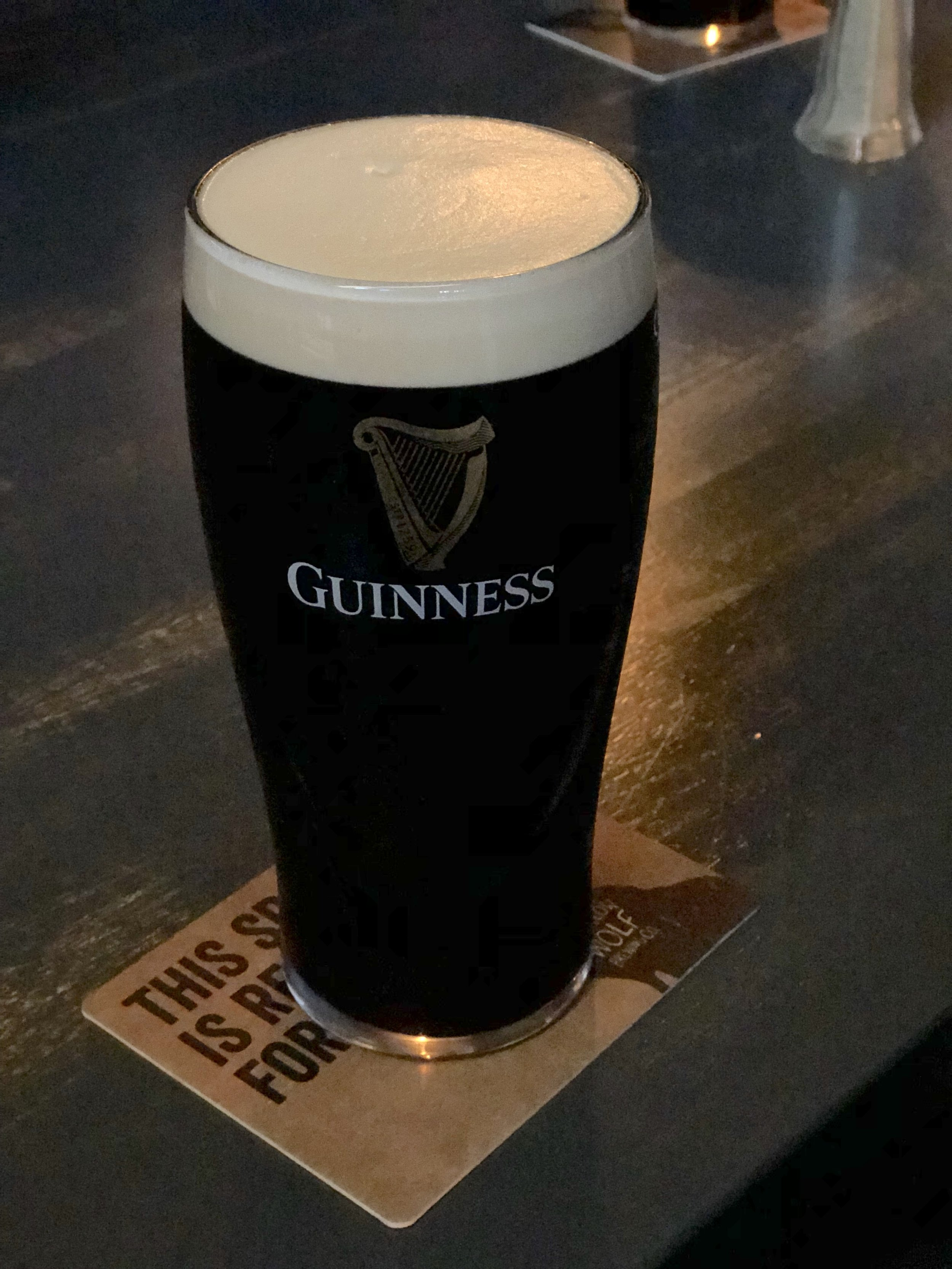Can't have lunch in Ireland without Guinness.