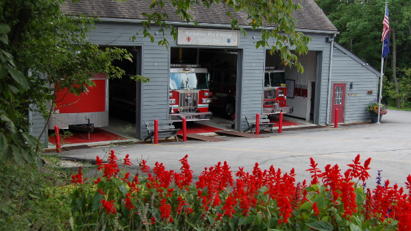 There are two  fire stations at Wintergreen –one in the valley, another on the mountain.