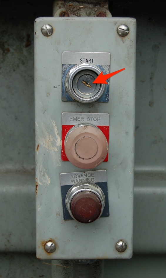 Mountain property owners need to press the top button to compress the trash and garbage.