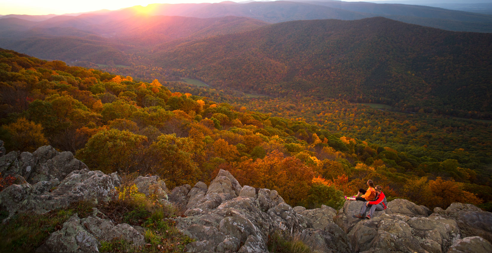 Over 30 miles of mountain  and valley trails, from easy to challenging, are in Wintergreen's boundaries offering waterfalls and wildflowers. Miles of more great trails are nearby, including part of the famous Appalachian Trail, the beautiful Crabtree Falls and the popular Humpback Rocks.  Learn more.