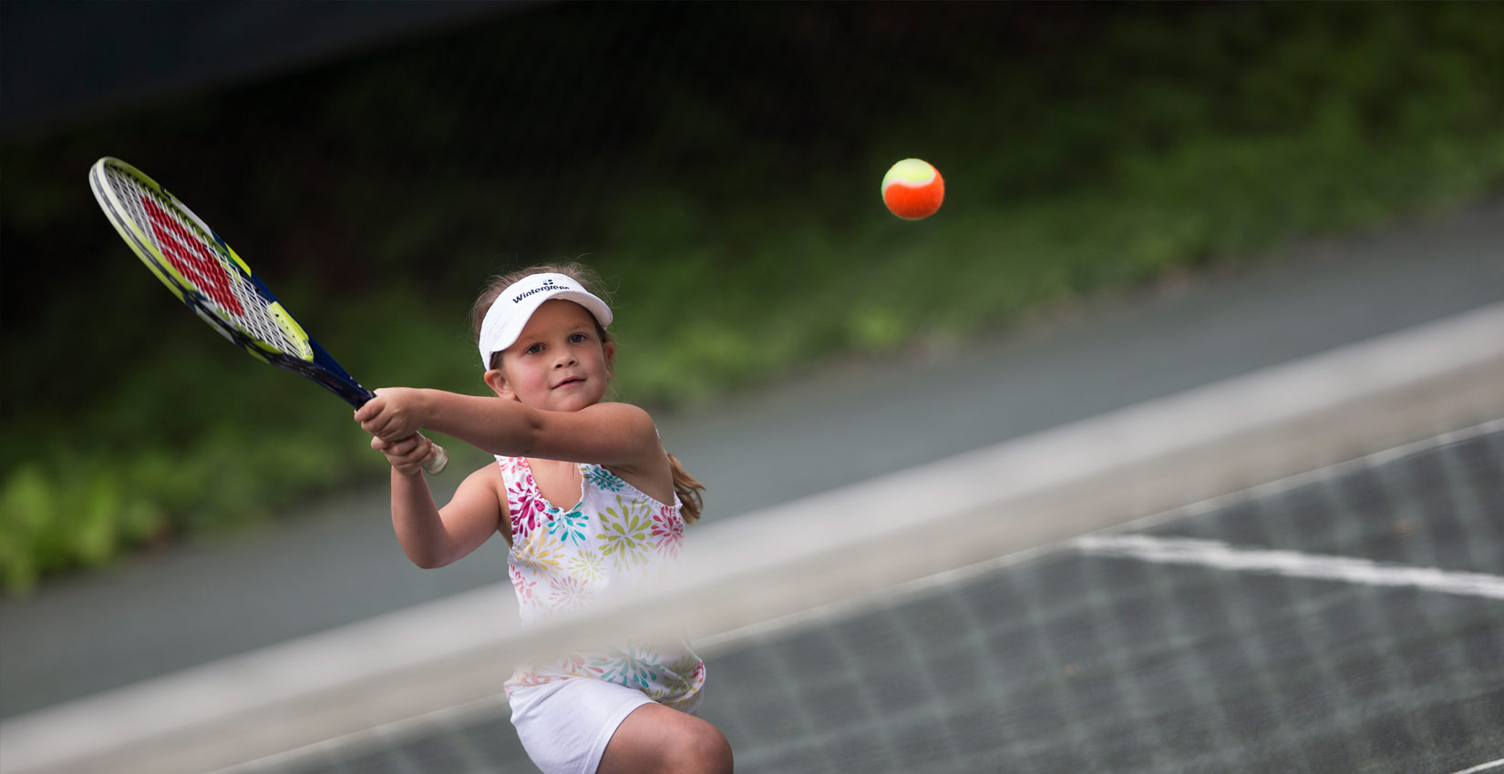 The resort     offers indoor and outdoor tennis courts with renowned coaching. Their  Adventure Center  is a huge hit with kids of all ages. Property owners have access to WPOA's    tennis court, horseshoes and playgrounds . The all-volunteer  Wintergreen Sporting Club  ($25 a year) is for property owners interested in archery ,  canoeing and kayaking, fishing and shooting.  Rodes Farm Stables  offers access to miles of riding trails. Simply want to hit the gym? Wintergreen Resort has gyms on the mountain and in the valley.