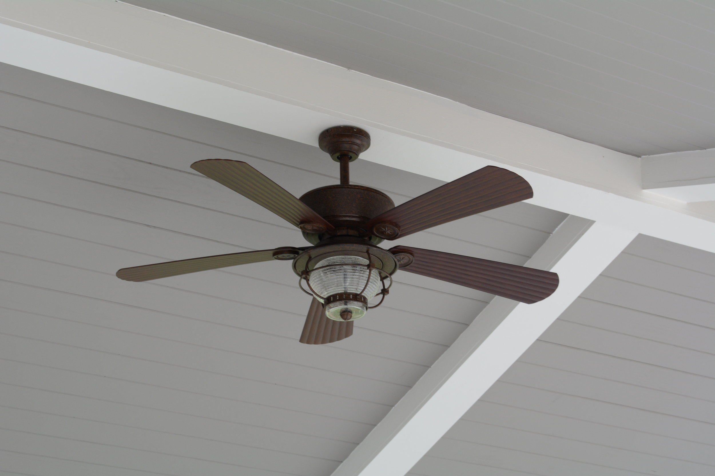 Tuckahoe Clubhouse's back porch now has outdoor ceiling fans.