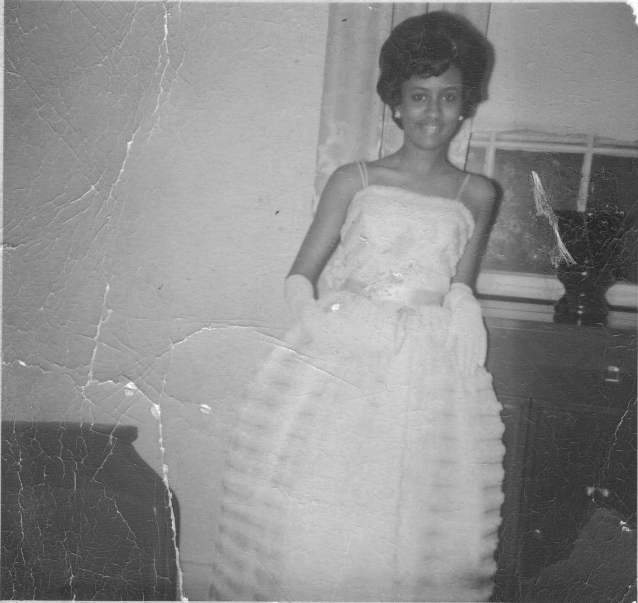 My mother at her prom